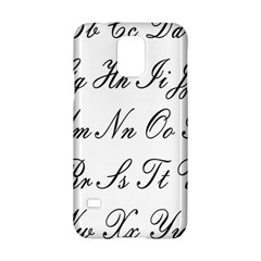 Alphabet Embassy Font Samsung Galaxy S5 Hardshell Case  by Mariart