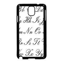 Alphabet Embassy Font Samsung Galaxy Note 3 Neo Hardshell Case (black) by Mariart