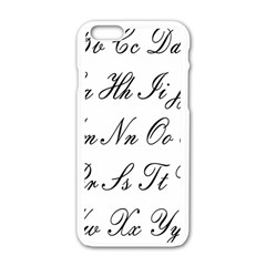 Alphabet Embassy Font Apple Iphone 6/6s White Enamel Case by Mariart