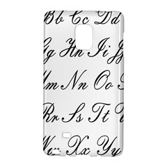 Alphabet Embassy Font Galaxy Note Edge by Mariart