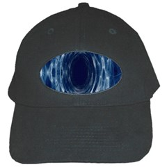 Worm Hole Line Space Blue Black Cap by Mariart