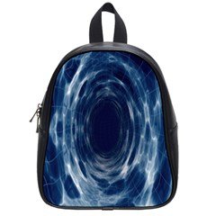 Worm Hole Line Space Blue School Bag (small) by Mariart