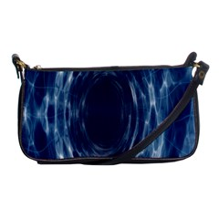 Worm Hole Line Space Blue Shoulder Clutch Bags by Mariart
