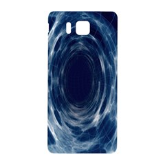 Worm Hole Line Space Blue Samsung Galaxy Alpha Hardshell Back Case by Mariart