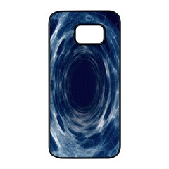 Worm Hole Line Space Blue Samsung Galaxy S7 Edge Black Seamless Case by Mariart