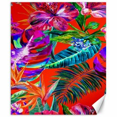 Aloha Hawaiian Flower Floral Sexy Summer Orange Canvas 20  X 24   by Mariart