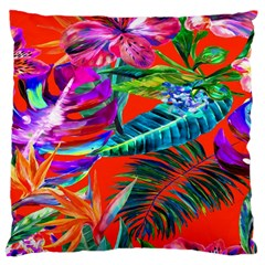 Aloha Hawaiian Flower Floral Sexy Summer Orange Large Cushion Case (one Side) by Mariart