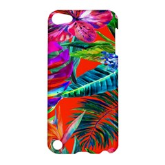 Aloha Hawaiian Flower Floral Sexy Summer Orange Apple Ipod Touch 5 Hardshell Case by Mariart