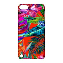 Aloha Hawaiian Flower Floral Sexy Summer Orange Apple Ipod Touch 5 Hardshell Case With Stand by Mariart