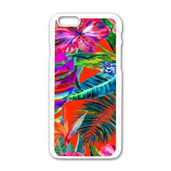 Aloha Hawaiian Flower Floral Sexy Summer Orange Apple Iphone 6/6s White Enamel Case by Mariart