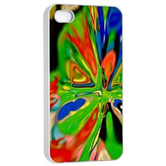 Acrobat Wormhole Transmitter Monument Socialist Reality Rainbow Apple Iphone 4/4s Seamless Case (white) by Mariart