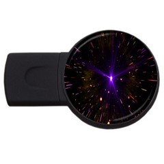 Animation Plasma Ball Going Hot Explode Bigbang Supernova Stars Shining Light Space Universe Zooming Usb Flash Drive Round (2 Gb) by Mariart