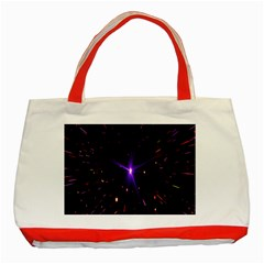 Animation Plasma Ball Going Hot Explode Bigbang Supernova Stars Shining Light Space Universe Zooming Classic Tote Bag (red) by Mariart