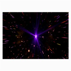 Animation Plasma Ball Going Hot Explode Bigbang Supernova Stars Shining Light Space Universe Zooming Large Glasses Cloth (2 Side) by Mariart