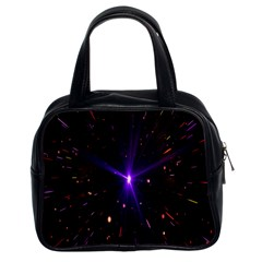 Animation Plasma Ball Going Hot Explode Bigbang Supernova Stars Shining Light Space Universe Zooming Classic Handbags (2 Sides) by Mariart
