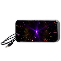 Animation Plasma Ball Going Hot Explode Bigbang Supernova Stars Shining Light Space Universe Zooming Portable Speaker (black) by Mariart
