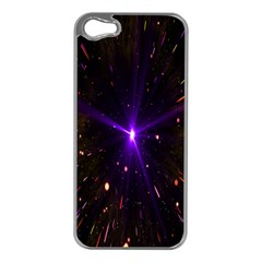 Animation Plasma Ball Going Hot Explode Bigbang Supernova Stars Shining Light Space Universe Zooming Apple Iphone 5 Case (silver) by Mariart