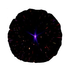 Animation Plasma Ball Going Hot Explode Bigbang Supernova Stars Shining Light Space Universe Zooming Standard 15  Premium Flano Round Cushions by Mariart