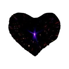 Animation Plasma Ball Going Hot Explode Bigbang Supernova Stars Shining Light Space Universe Zooming Standard 16  Premium Flano Heart Shape Cushions by Mariart
