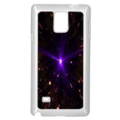 Animation Plasma Ball Going Hot Explode Bigbang Supernova Stars Shining Light Space Universe Zooming Samsung Galaxy Note 4 Case (white) by Mariart