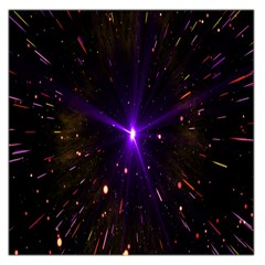 Animation Plasma Ball Going Hot Explode Bigbang Supernova Stars Shining Light Space Universe Zooming Large Satin Scarf (square) by Mariart