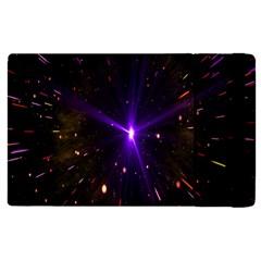 Animation Plasma Ball Going Hot Explode Bigbang Supernova Stars Shining Light Space Universe Zooming Apple Ipad Pro 9 7   Flip Case by Mariart