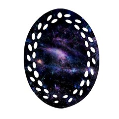 Animation Plasma Ball Going Hot Explode Bigbang Supernova Stars Shining Light Space Universe Zooming Oval Filigree Ornament (two Sides)