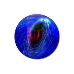 Black Hole Blue Space Galaxy Magnet 3  (round) by Mariart