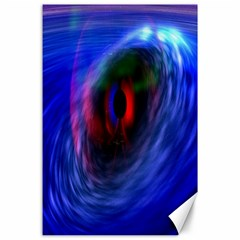 Black Hole Blue Space Galaxy Canvas 24  X 36  by Mariart