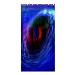Black Hole Blue Space Galaxy Shower Curtain 36  X 72  (stall)  by Mariart
