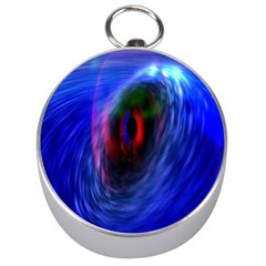 Black Hole Blue Space Galaxy Silver Compasses by Mariart
