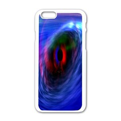 Black Hole Blue Space Galaxy Apple Iphone 6/6s White Enamel Case by Mariart