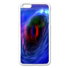 Black Hole Blue Space Galaxy Apple Iphone 6 Plus/6s Plus Enamel White Case by Mariart