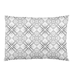 Background Pattern Diagonal Plaid Black Line Pillow Case by Mariart