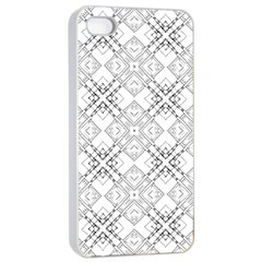 Background Pattern Diagonal Plaid Black Line Apple Iphone 4/4s Seamless Case (white) by Mariart