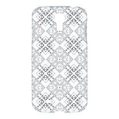 Background Pattern Diagonal Plaid Black Line Samsung Galaxy S4 I9500/i9505 Hardshell Case by Mariart