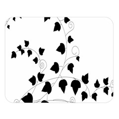 Black Leaf Double Sided Flano Blanket (large)  by Mariart