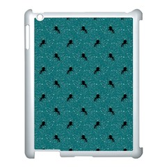 Unicorn Pattern Aqua Apple Ipad 3/4 Case (white) by MoreColorsinLife