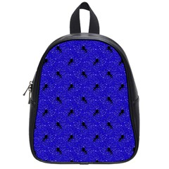 Unicorn Pattern Blue School Bag (small) by MoreColorsinLife
