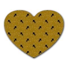 Unicorn Pattern Golden Heart Mousepads by MoreColorsinLife