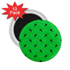 Unicorn Pattern Green 2 25  Magnets (10 Pack)  by MoreColorsinLife