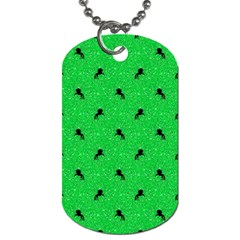 Unicorn Pattern Green Dog Tag (two Sides) by MoreColorsinLife