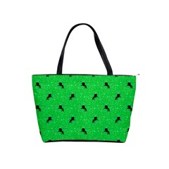 Unicorn Pattern Green Shoulder Handbags by MoreColorsinLife