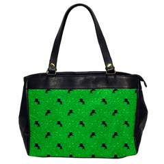 Unicorn Pattern Green Office Handbags by MoreColorsinLife