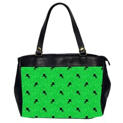 Unicorn Pattern Green Office Handbags (2 Sides)  by MoreColorsinLife