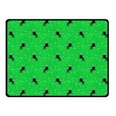 Unicorn Pattern Green Fleece Blanket (small) by MoreColorsinLife