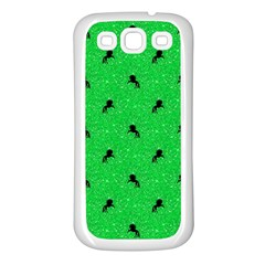 Unicorn Pattern Green Samsung Galaxy S3 Back Case (white) by MoreColorsinLife