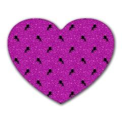Unicorn Pattern Pink Heart Mousepads by MoreColorsinLife