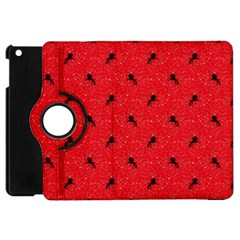 Unicorn Pattern Red Apple Ipad Mini Flip 360 Case by MoreColorsinLife