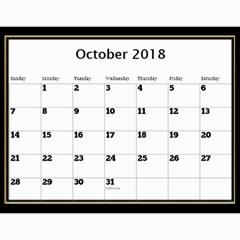 Jane My Black And Gold  Wall Calendar 11x8 5 By Deborah   Wall Calendar 11  X 8 5  (12 Months)   Yadkppem3mxr   Www Artscow Com Oct 2018